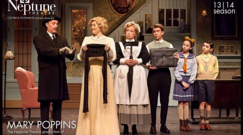 """Neptune Theatre's production of """"Mary Poppins"""", 2014. Kirstin is featured as Mrs. Winifred Banks. Photo by Timothy Richard."""